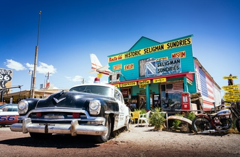 Historic Seligman Sundries langs Route 66, Arizona i USA